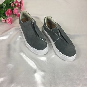 NEW Eytys Doja S-O Suede grey slip on sneakers 8,5